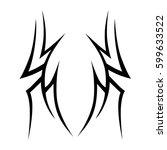 vector tribal tattoo designs.... | Shutterstock .eps vector #599633522