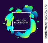 vector design template and... | Shutterstock .eps vector #599647472