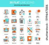 vector set of education and... | Shutterstock .eps vector #599647886