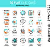 vector set of business and... | Shutterstock .eps vector #599647922