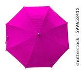 pink umbrella. isolated... | Shutterstock . vector #599653412