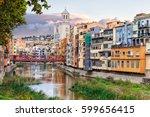 historical jewish quarter in... | Shutterstock . vector #599656415