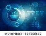 fingerprint scanning technology ... | Shutterstock . vector #599665682