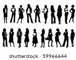 business women | Shutterstock .eps vector #59966644