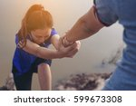 man help hand giving...   Shutterstock . vector #599673308