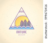 vector logo of nature elements... | Shutterstock .eps vector #599673416