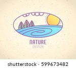vector logo of nature elements... | Shutterstock .eps vector #599673482