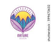 vector logo of nature elements... | Shutterstock .eps vector #599673632