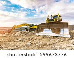 building a road with varied... | Shutterstock . vector #599673776