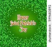 square saint patricks day... | Shutterstock .eps vector #599683892