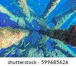 oil and gas wellhead platform ...   Shutterstock . vector #599685626