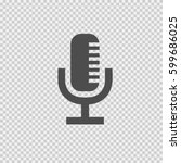 microphone vector icon eps 10.... | Shutterstock .eps vector #599686025