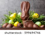 traditional delicious easter... | Shutterstock . vector #599694746