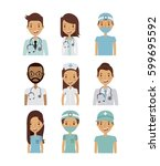 professional medical people...   Shutterstock .eps vector #599695592