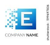 letter e vector logo symbol in...