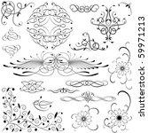 vector decorative design... | Shutterstock .eps vector #59971213