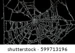 old unused dusty spider web in... | Shutterstock . vector #599713196