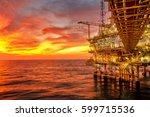 offshore oil and rig platform...   Shutterstock . vector #599715536
