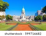 the palace of the argentine... | Shutterstock . vector #599716682