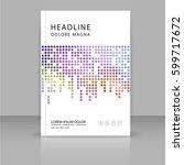annual report  leaflet ... | Shutterstock .eps vector #599717672