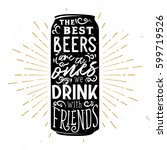 beer typography illustration.... | Shutterstock .eps vector #599719526