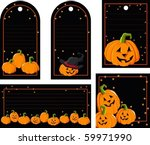tag with pumpkin   Shutterstock .eps vector #59971990