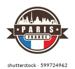 symbol  french city  with...   Shutterstock .eps vector #599724962