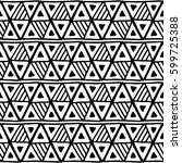 seamless vector pattern. black... | Shutterstock .eps vector #599725388