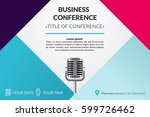 business conference invitation... | Shutterstock .eps vector #599726462