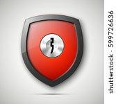 design shield   keyhole.... | Shutterstock .eps vector #599726636