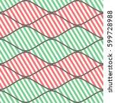 seamless vector abstract... | Shutterstock .eps vector #599728988