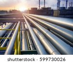 oil refinery pipeline and... | Shutterstock . vector #599730026