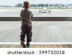 little baby boy waiting... | Shutterstock . vector #599732018