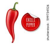 hot chilli pepper with gradient ... | Shutterstock .eps vector #599734526
