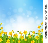 spring time poster with... | Shutterstock .eps vector #599734586