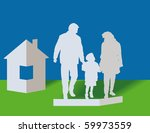 silhouettes of the parents and...   Shutterstock .eps vector #59973559