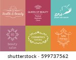 set of vector logo and symbol... | Shutterstock .eps vector #599737562
