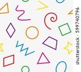 multicolor basic geometrical... | Shutterstock .eps vector #599740796