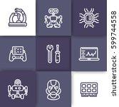 robotics  mechanical... | Shutterstock .eps vector #599744558