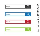 set of search bars  flat web...