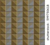 seamless vector abstract... | Shutterstock .eps vector #599750618