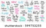 lettering photography overlay... | Shutterstock .eps vector #599753255