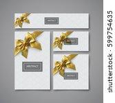 white gift stationery design... | Shutterstock .eps vector #599754635