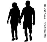 couples man and woman... | Shutterstock . vector #599755448