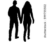 couples man and woman... | Shutterstock . vector #599755502