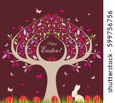easter tree. | Shutterstock . vector #599756756