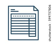 document with table vector icon ... | Shutterstock .eps vector #599757806
