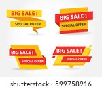 yellow and red shopping sale... | Shutterstock .eps vector #599758916