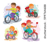 a set of icons of small... | Shutterstock . vector #599764688