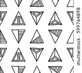 seamless vector pattern. black... | Shutterstock .eps vector #599764898